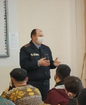 Встреча с заместителем начальника Отдела по гражданству и миграции Первомайского РУВД